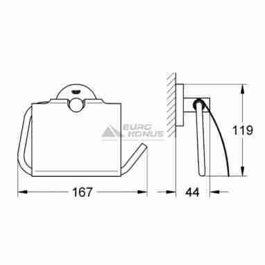 GROHE Держатель туалетной бумаги с крышкой Essentials (40367001)