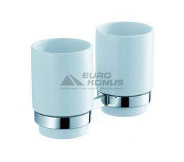 KRAUS Пара стаканов с настенным держателем Amnis KEA-11116 CH хром