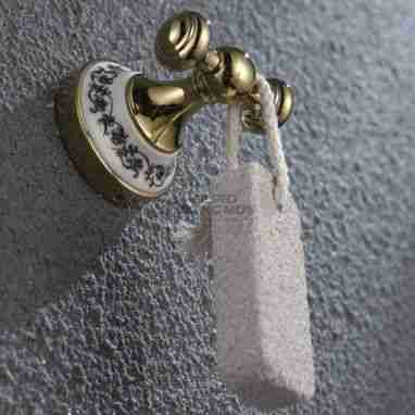 KRAUS Крючок двойной для ванной комнаты Apollo KEA-16501 G золото
