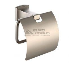 KRAUS Держатель туалетной бумаги с крышкой Fortis KEA-13326 BN сатин