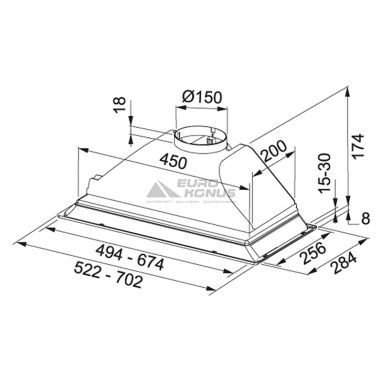 FRANKE Вытяжка встраиваемая BOX FBI 512 ECO GR серый (110.0200.762)