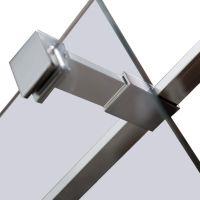 VOLLE Держатель стекла (E) с креплениями для душевой стенки walk-in длиной 100 мм 18-05E-10