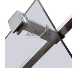 VOLLE Держатель стекла (E) с креплениями для душевой стенки walk-in длиной 300 мм 18-05E-30