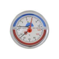 """Манометр с термометром горизонтальный 1/4"""" (1/2"""") MTF-10"""