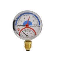 """Манометр с термометром вертикальный 1/4"""" (1/2"""") MTR-10"""