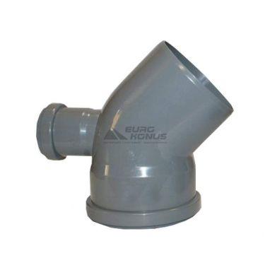 ARMAKAN Колено для внутренней канализации с добавочным доступом 110*х50*/45°х90° (ATK04)