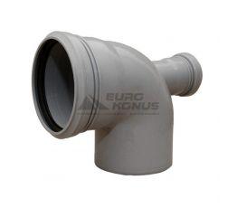 ARMAKAN Колено для внутренней канализации с добавочным доступом 110*х50*/90°х180° (ATK02)