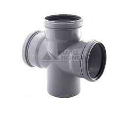 ARMAKAN Крест для внутренней канализации 50*х50*х50*/90° (AHP02)