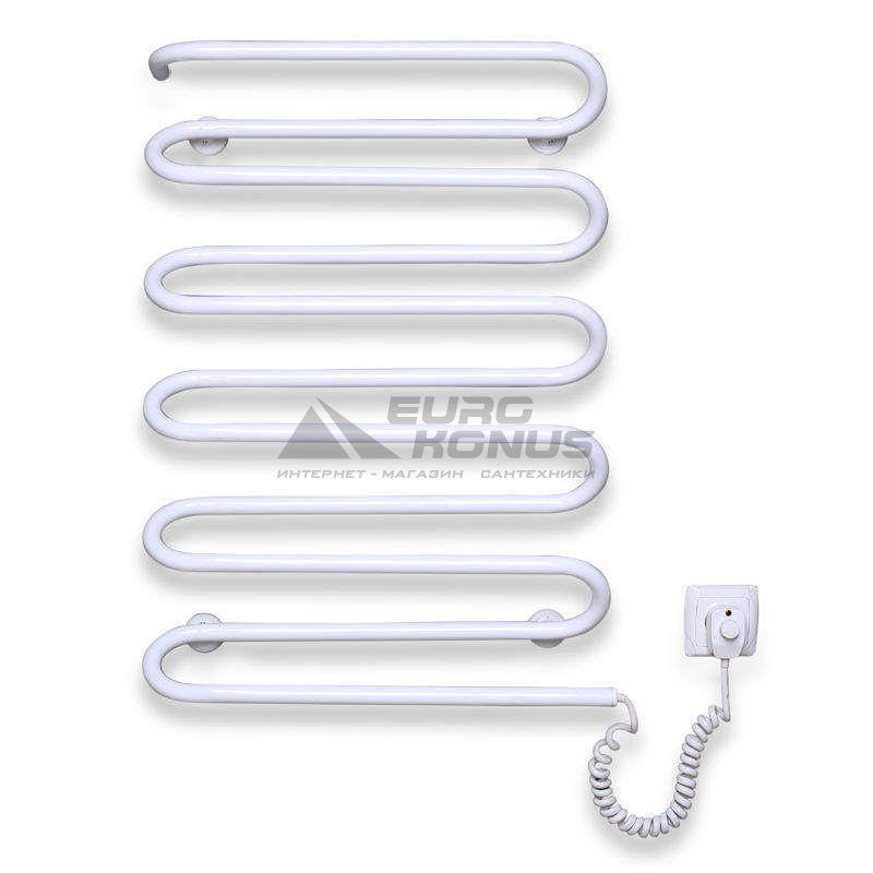 ELNA Полотенцесушитель электрический правосторонний Волна - 11 (800 мм х 510 мм х 130 мм) белый