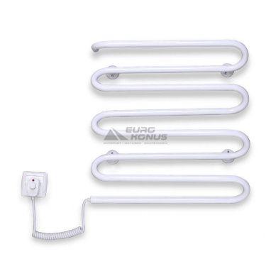 ELNA Полотенцесушитель электрический левосторонний Волна - 8 (500 мм х 420 мм х 130 мм) белый