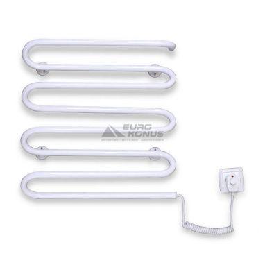 ELNA Полотенцесушитель электрический правосторонний Волна - 8 (500 мм х 420 мм х 130 мм) белый