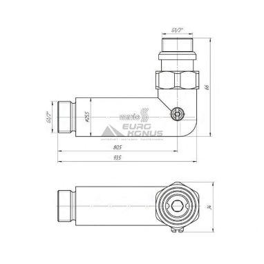 MARIO Кран угловой запорный (2 шт.) (4.0.0400.55.Р)