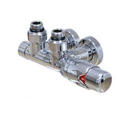 MARIO Кран угловой с термоголовкой - подключение 50 мм (узел) (4.0.0700.55.Р)