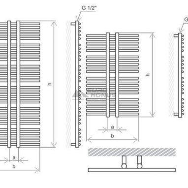 MARIO Полотенцесушитель водяной Рим 1360 мм x 560/50 мм (1.2.1001.03.Р)