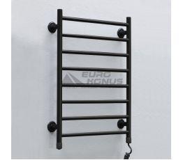 ТЁПЛЫЙ МИР Полотенцесушитель электрический правосторонний Лесенка black (710х535х75 мм)