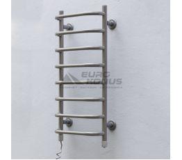 ТЁПЛЫЙ МИР Полотенцесушитель электрический левосторонний Слим silver (710х360х145 мм)