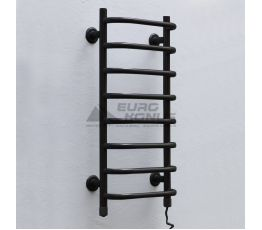 ТЁПЛЫЙ МИР Полотенцесушитель электрический правосторонний Слим black (710х360х145 мм)