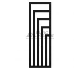GENESIS AQUA Радиатор из нержавеющей стали Vero 1400x530 черный