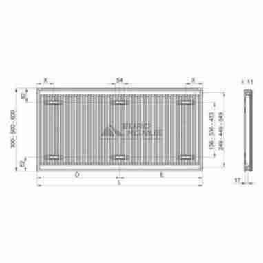 TERRA TEKNIK Радиатор стальной Тип 11 (500 x 400)