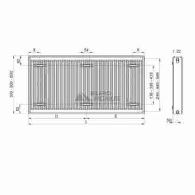 TERRA TEKNIK Радиатор стальной Тип 22 (600 x 1800)