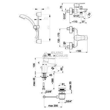 ARMATURA Комплект для ванной комнаты German (4511-001-00)