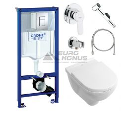 GROHE Комплект для туалета (инсталляция + унитаз + гигиенический душ) (38770HR7)