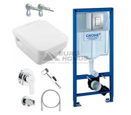 GROHE Комплект для туалета (инсталляция + унитаз + гигиенический душ) (38775HR7)