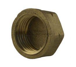 Заглушка для вентиля пропанового баллона с левой резьбой латунная G21,8 LH (1010Б)
