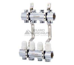 """FADO Коллекторный блок с запорными клапанами на 6 выходов 3/4""""x1"""" (KRZ06)"""