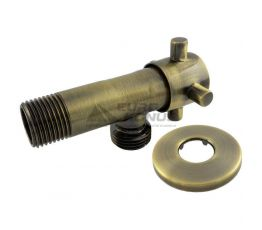 """SANLUX TERMO Кран угловой ST-301 1/2""""х1/2"""" bronze"""