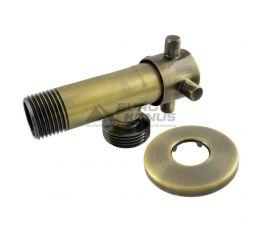 """SANLUX TERMO Кран угловой ST-301 1/2""""х3/4"""" bronze"""