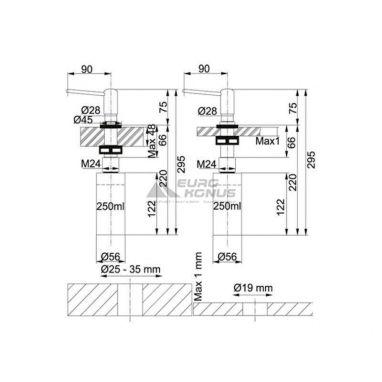 FRANKE Дозатор моющих средств SDR 250 мл хром (119.0044.833)