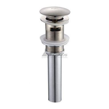 KRAUS Клапан сливной для умывальника с переливом PU-16 BN сатин