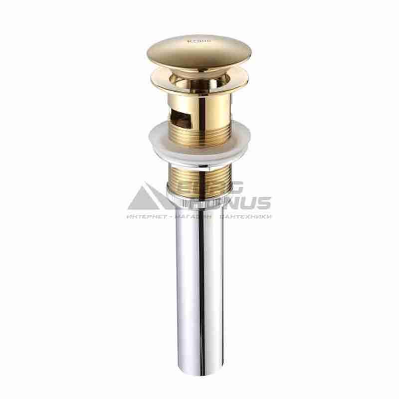 KRAUS Клапан сливной для умывальника с переливом PU-16 G золото