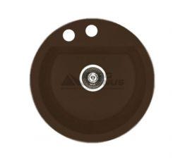 ALVEUS Мойка врезная для кухни Cubo 10-A57 M без крыла espresso (1088544)