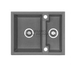 ALVEUS Мойка врезная для кухни Cubo 20-A16 M оборотная antrazit-metalic (1054647)