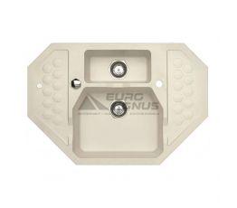 ALVEUS Мойка врезная для кухни Sensual 60 G02M угловая pebble (1108256)