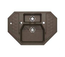 ALVEUS Мойка врезная для кухни Sensual 60 G03M угловая chocolate (1108257)