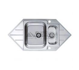 ALVEUS Мойка врезная для кухни Line 40 угловая оборотная декор Corner (1085940 LEI)