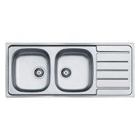 ALVEUS Мойка врезная для кухни Line 100 оборотная матовая (1087978 SAT)
