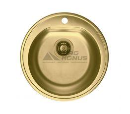 ALVEUS Мойка врезная для кухни MC Form 30 без крыла матовая золото (1070808 AU)