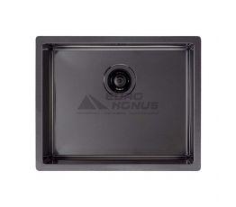 ALVEUS Мойка врезная для кухни MC Quadrix 50 без крыла матовая антрацит (1078582/1103383 BL)