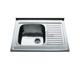 CRISTAL Мойка накладная для кухни Decor Right правое крыло декор (7403)