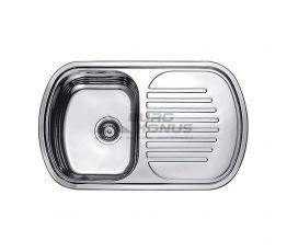 CRISTAL Мойка врезная для кухни Satin оборотная матовая (7705)