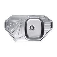CRISTAL Мойка врезная для кухни Satin New угловая матовая (7803)