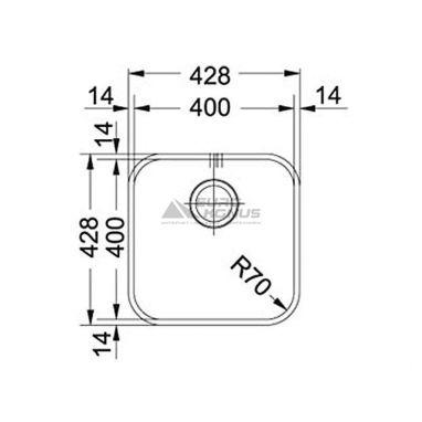 FRANKE Мойка под столешницу для кухни Savanna SVX 110-40 без крыла полированная (122.0039.092)