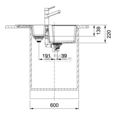 FRANKE Мойка врезная для кухни Urban UBG 651-78 оборотная бежевый (114.0574.988)