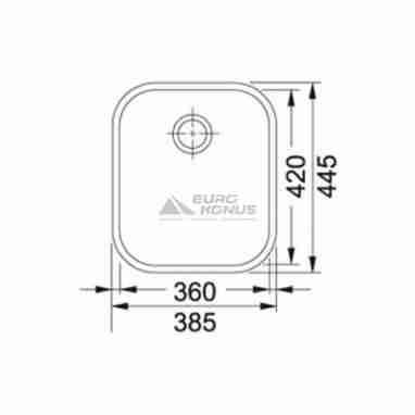 FRANKE Мойка под столешницу для кухни ZODIACO ZOX 110-36 без крыла полированная (122.0021.441)
