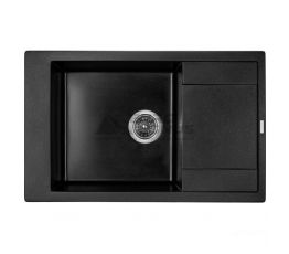 GRANADO Мойка врезная для кухни Almeria оборотная black shine (3101)