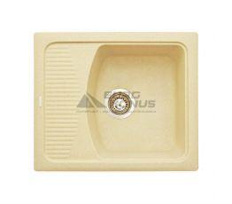 GRANITIKA Мойка врезная для кухни Cube Bevel крем (CB585020-206)